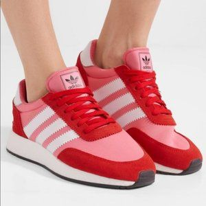 ADIDAS I-5923 Women INIKI Pink Red Suede Sneakers